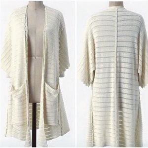 Guinevere. Open knit duster cardigan